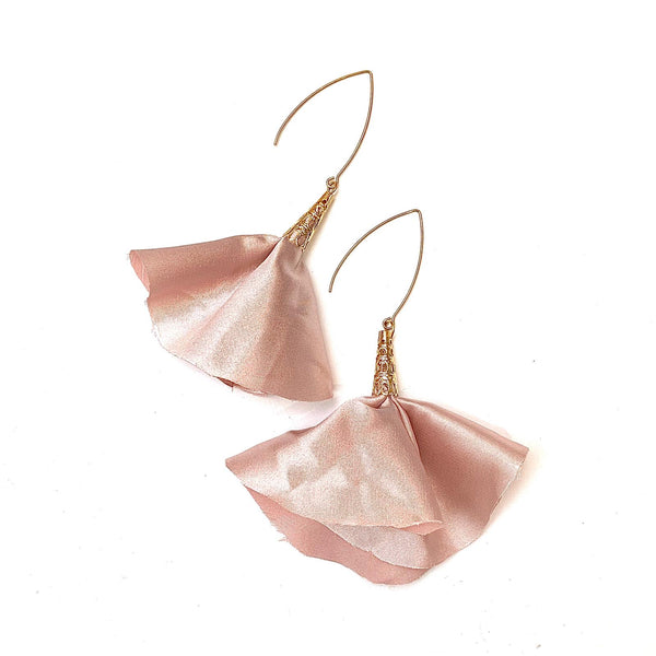 Sulyvette  Diaz- Bell Earrings - Blush