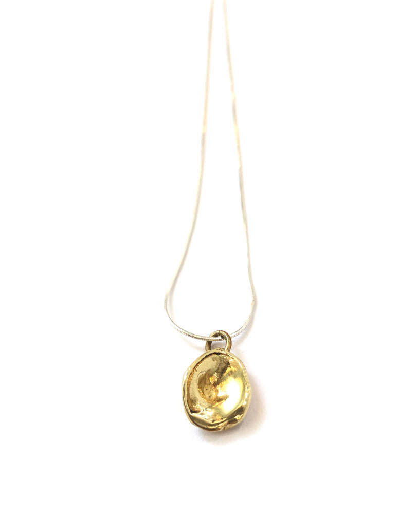 DOS PINCELES - Gota Necklace (Brass or Silver)