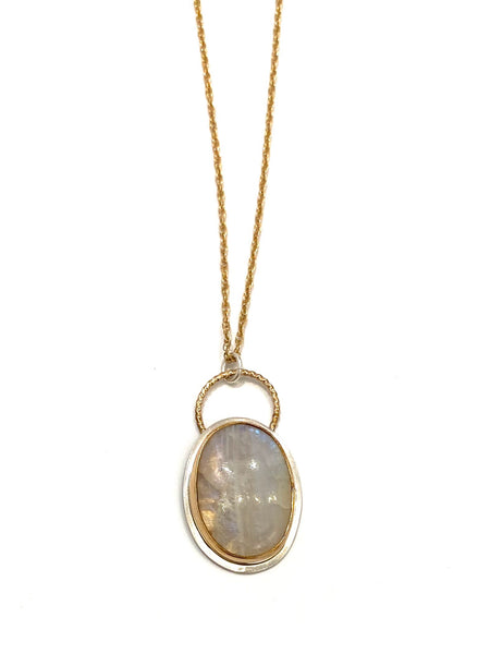 MONIQUE MICHELE- Oval Moonstone Gem Amulet