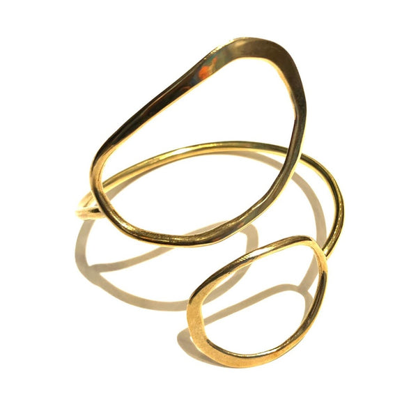 AVI- Two Point Halo Brass Bracelet