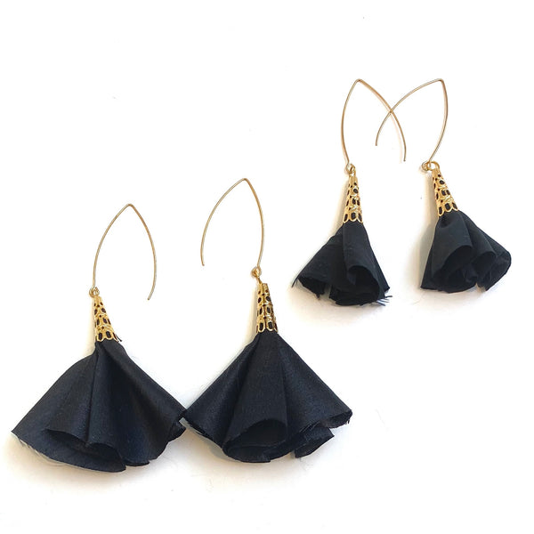 Sulyvette  Diaz- Bell Earrings - Black