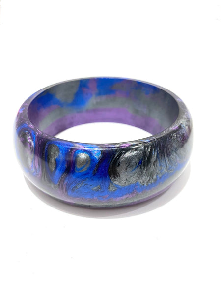 TRENCHE- Resin Bangle Bracelet- Galactic