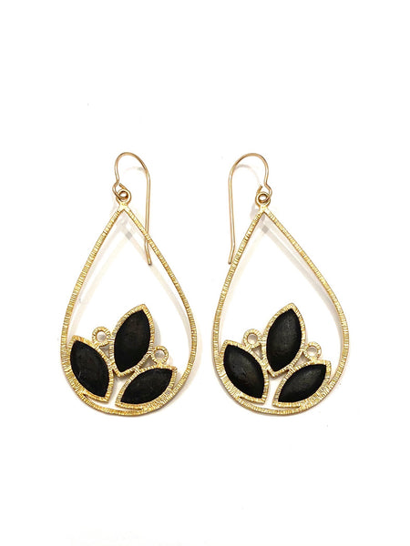 DEKOKRETE - Leaves Earrings Golden