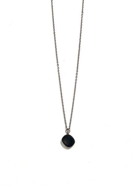 DEKOKRETE- Diamond Cut Onyx Necklace