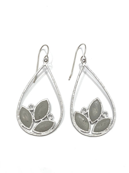 DEKOKRETE - Leaves Earrings Silver