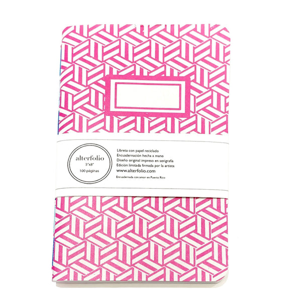 "ALTERFOLIO - Light Pink and White 5""x7"" Notebook"