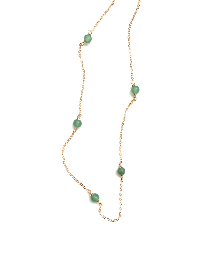 MUNS - Aventurine Beaded Short Necklace