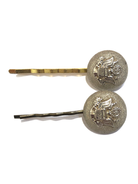 SULYVETTE DIAZ- VINTAGE BUTTONS BOBBY PINS
