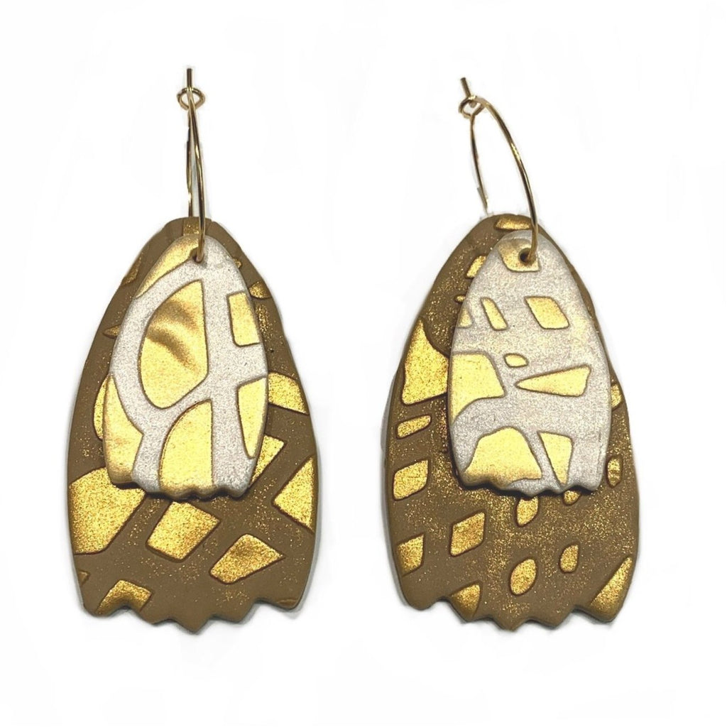 COCOLEÉ- Gold Detailed Earrings