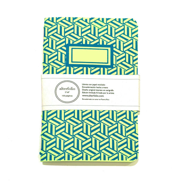 "ALTERFOLIO - Green and Blue 5""x7"" Notebook"