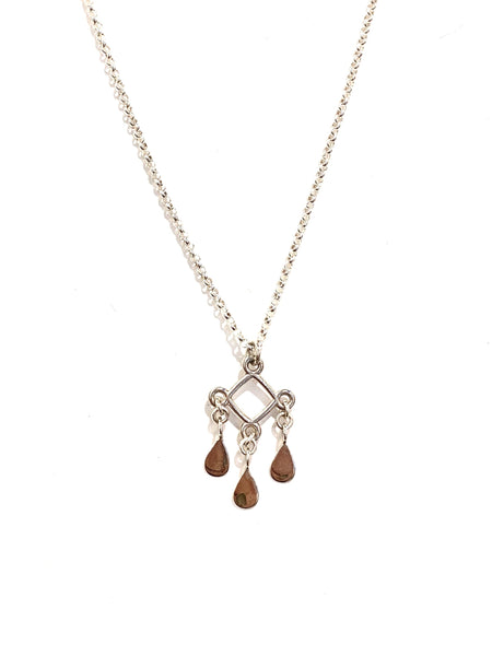 SUSANA CACHO- TRIANGLE & TEARDROP DANGLE NECKLACE