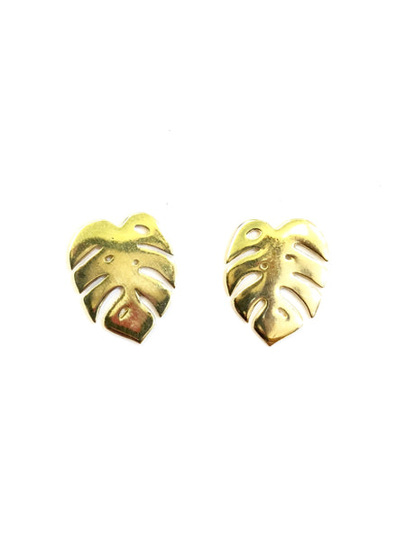 MUNS- LEAF EARRINGS (Golden or Silver)