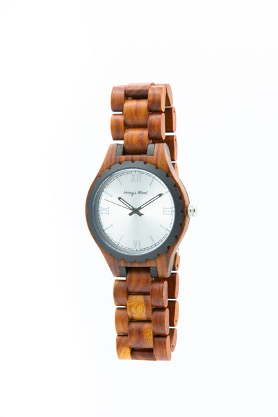 Herny's Wood- Watches- Ligno - Rosewood / Silver