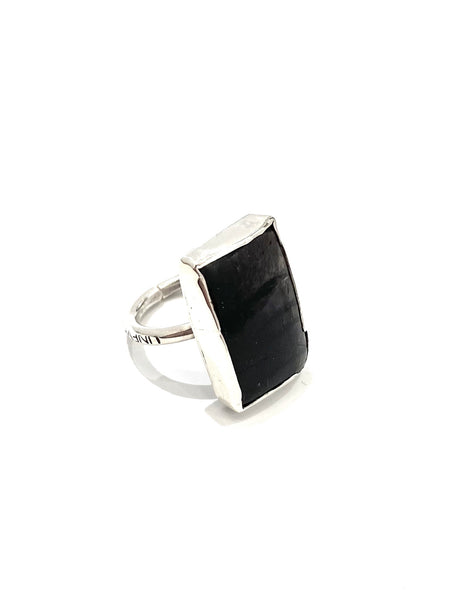 UNEVEN JEWELRY - Hypersthene Rectangle Ring