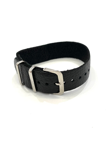 GEO- Leather Strap Collection - Black