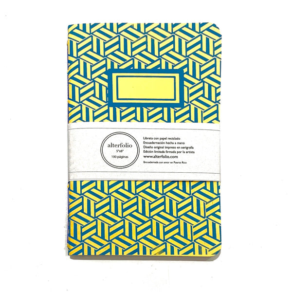"ALTERFOLIO - Yellow and Blue 5""x7"" Notebook"
