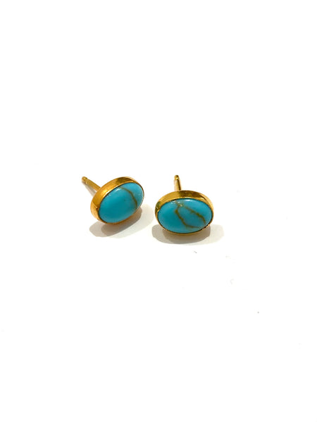 MONIQUE MICHELE - Turquoise Oval Studs