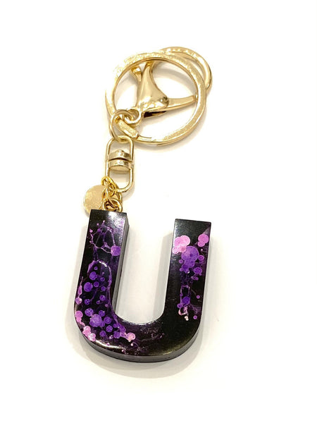 EMU.ART - Alphabet Resin Keychain - U (more colors available)