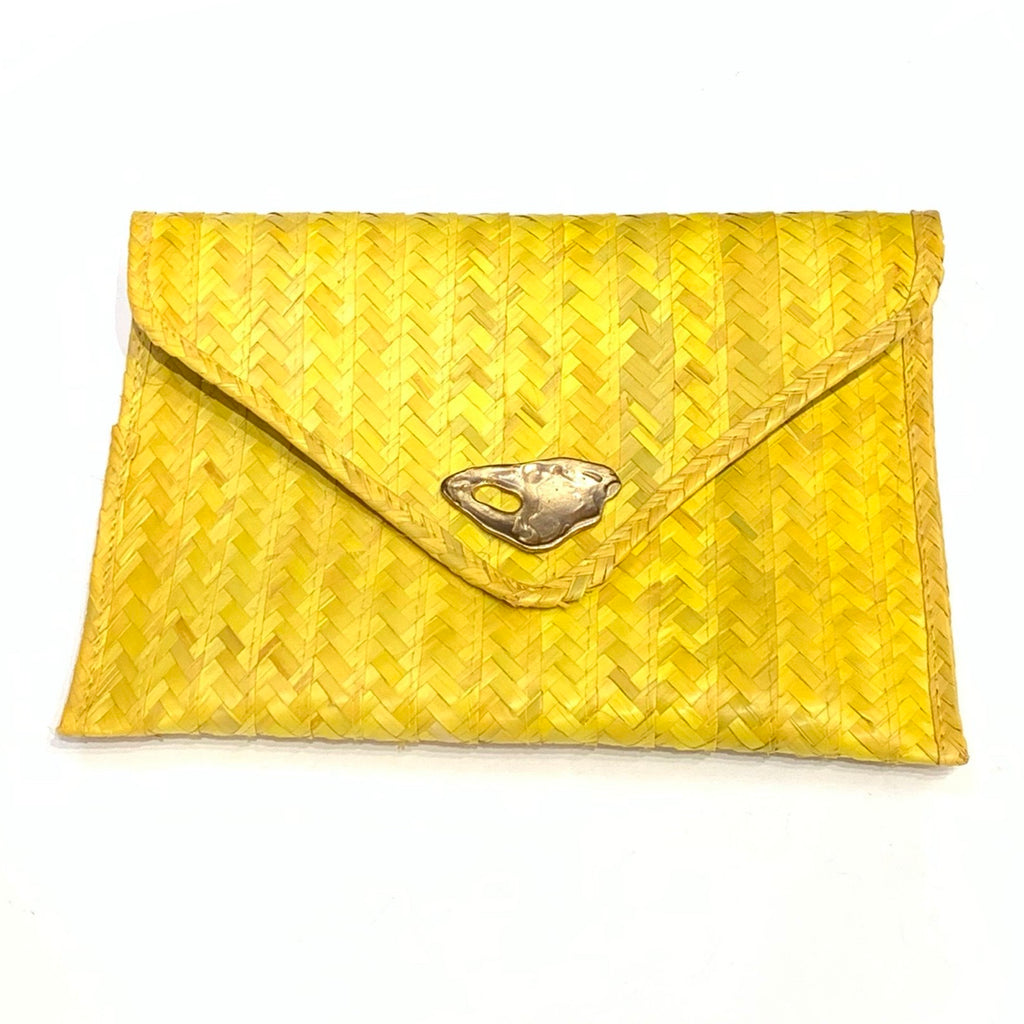 DOS PINCELES - Yellow Palma Clutch