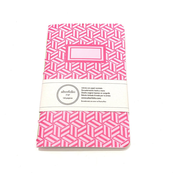 "ALTERFOLIO - Light Pink and Hot Pink 5""x7"" Notebook"