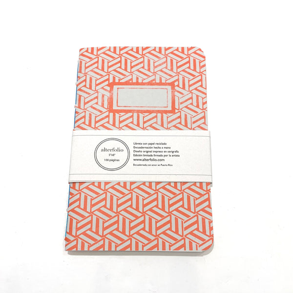 "ALTERFOLIO - Orange and White 5""x7"" Notebook"
