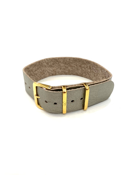 GEO- Leather Strap Collection - Silver