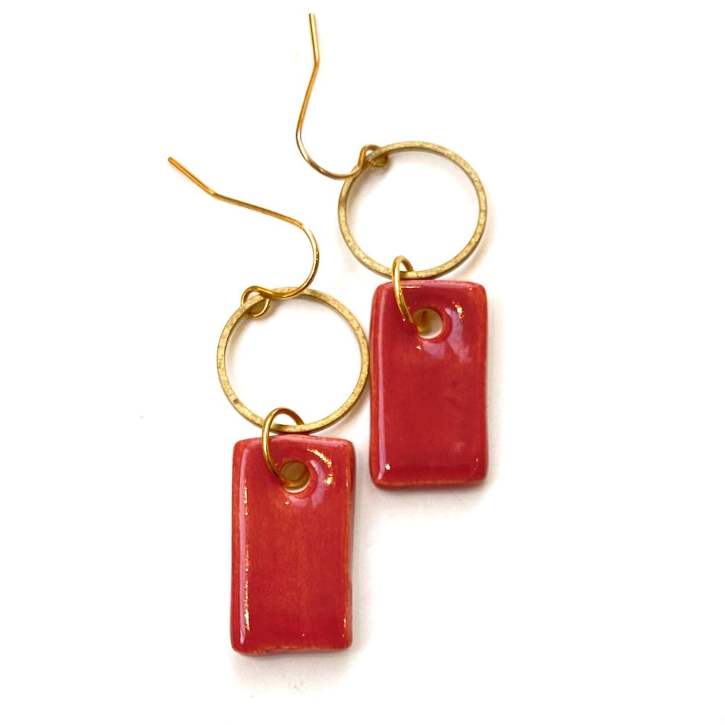 ITSARI - Dangle Earrings- Circle Rectangle (more colors available)