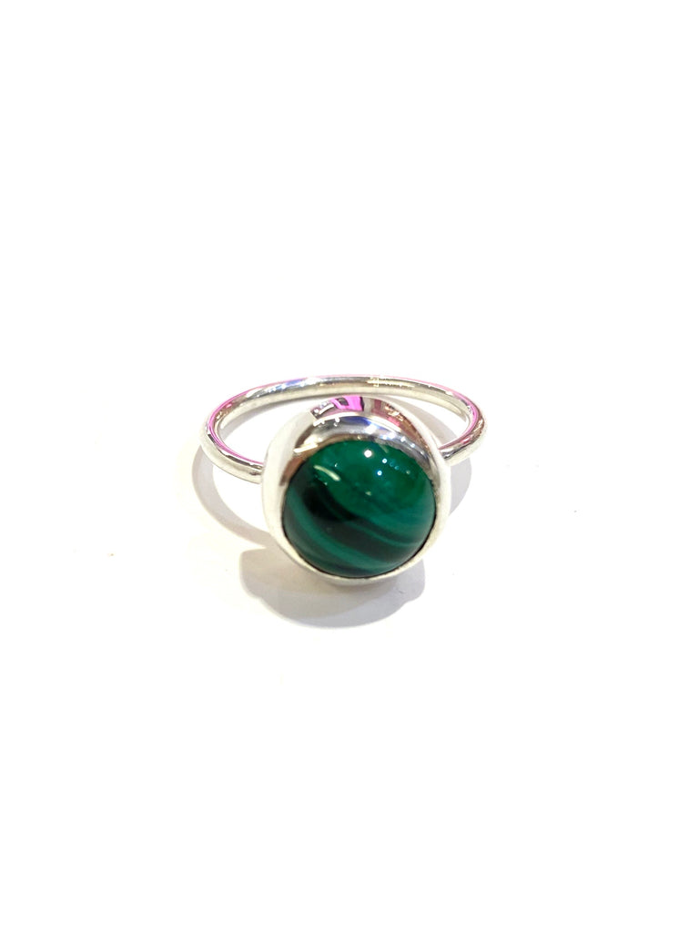 Aleishla- Silver Malachite  Ring