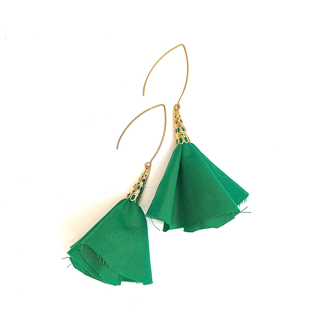 Sulyvette  Diaz- Bell Earrings - Green
