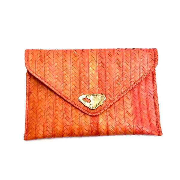 DOS PINCELES - Orange Palma Clutch