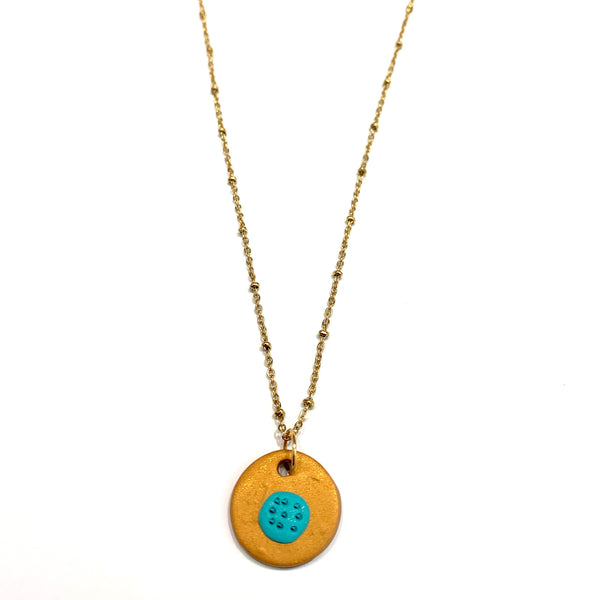 COCOLEÉ- Button Pendant Necklace