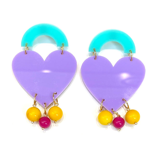 M3 by MONICA- QUEEN OF HEARTS EARRINGS (more colors available)