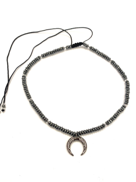 HC DESIGNS - Crescent Moon Choker (other colors available)