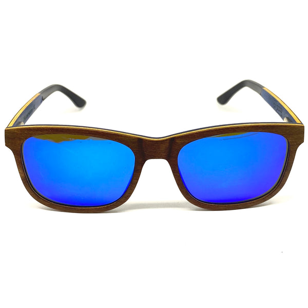 Herny's Wood - Sunglasses - Hoverwave XL - Walnut Blue
