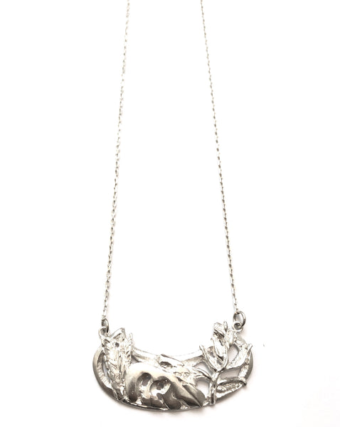 SNOU* - Tropical Garden Medallion  (silver or oxidized)