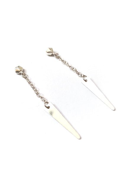 SUSANA CACHO - Sterling Silver Trapezoid Earrings