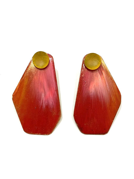 YARA DÍAZ- Ava 3-in-1 Earrings - Red
