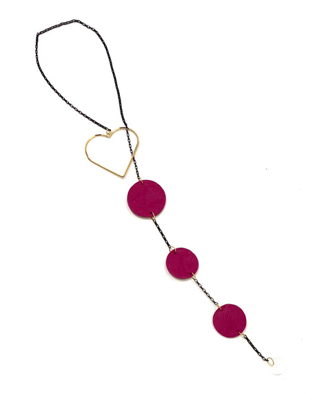 COCOLEÉ- Heart Lariat Necklace