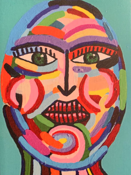 SUSANA CACHO - 4x6 Greeting Card With Envelope - Multicolor Woman
