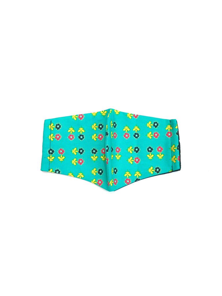 ITSARI - Face Mask Daisies Over Teal