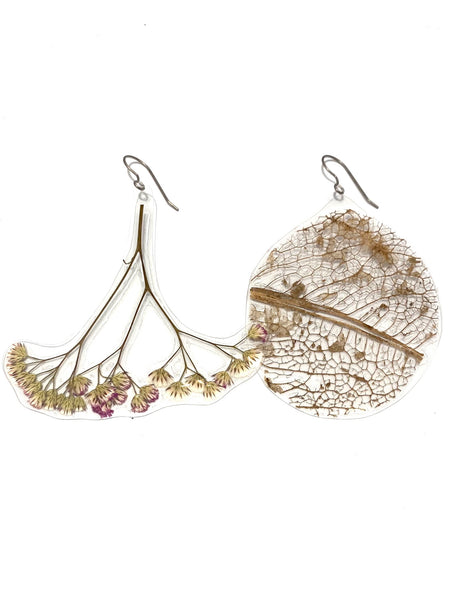 PUPA - Floral Earrings - Long with hook