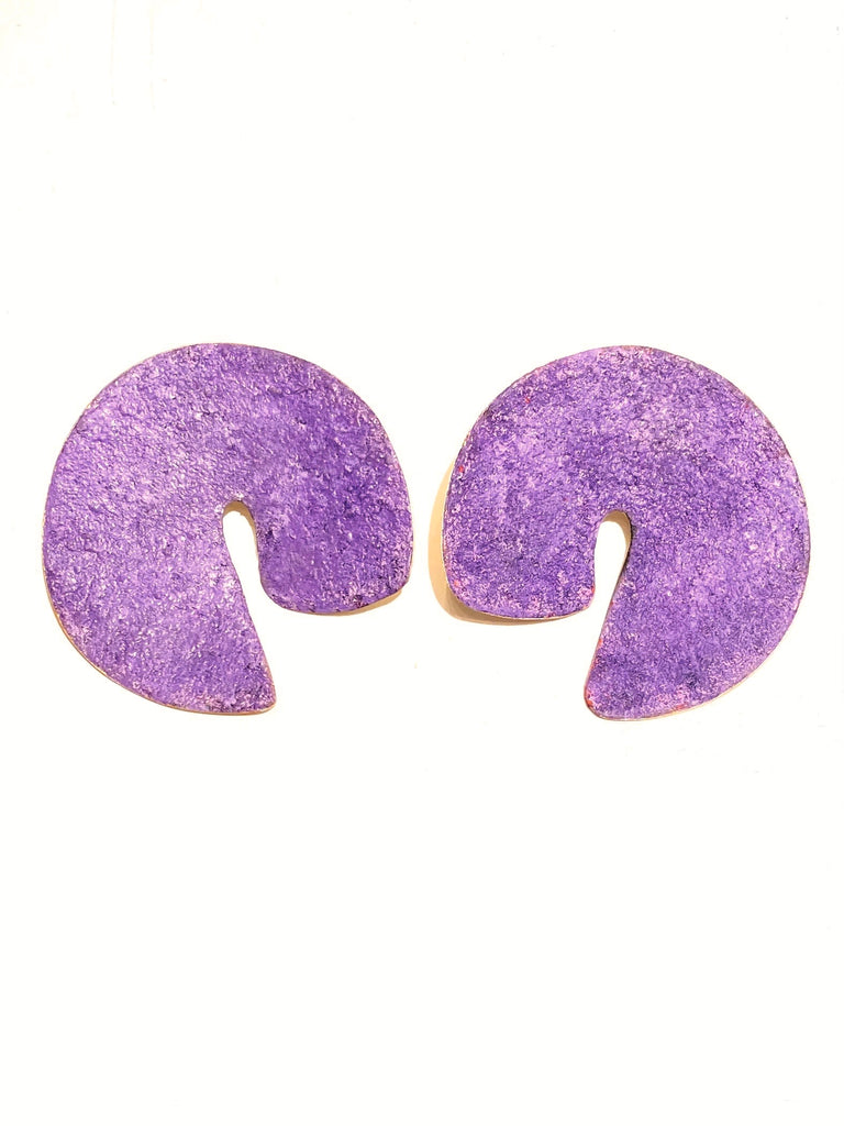 YARA DÍAZ - Deco Earrings in Purple