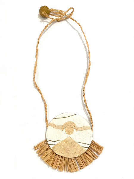 ECO FACTORÍA- Reversible Raffia Necklace