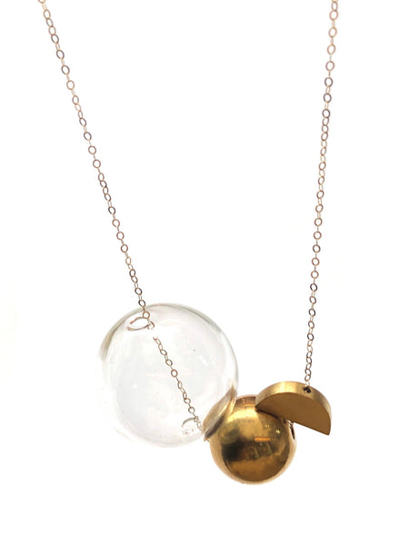 LUCA- LONG GEOMETRY NECKLACE