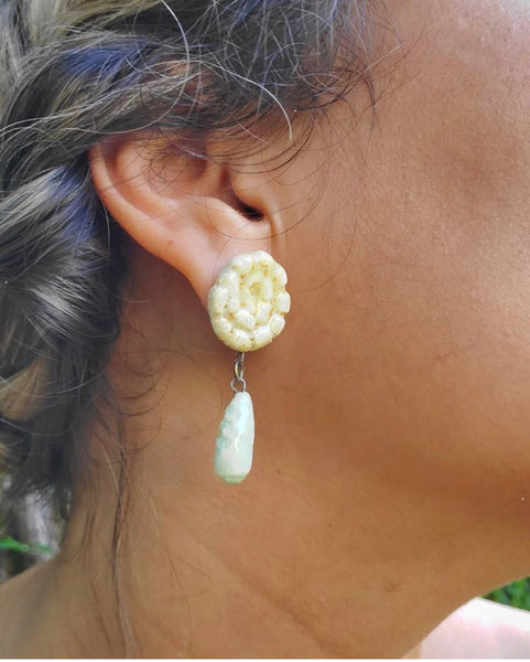 LAS MALCRIÁS- KIRA - SEASHELL EARRINGS