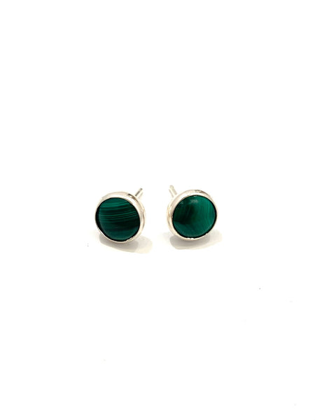 MONIQUE MICHELE - Round Studs - Malachite Stone