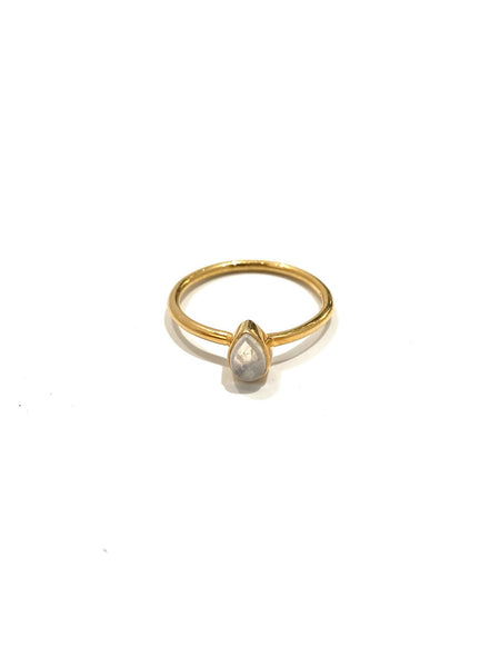 MONIQUE MICHELLE - Vermeil Moonstone Ring- Pear Cut
