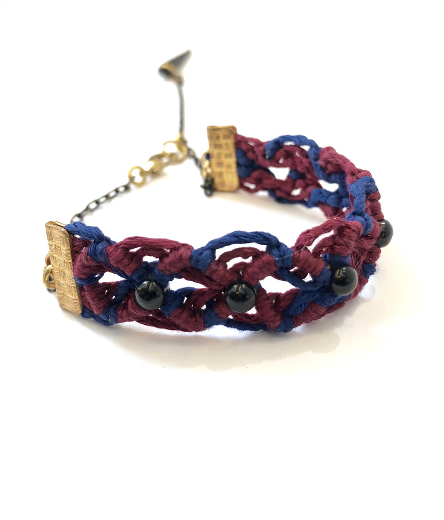 TIRIJALA- Straight Bracelet- Red & Blue