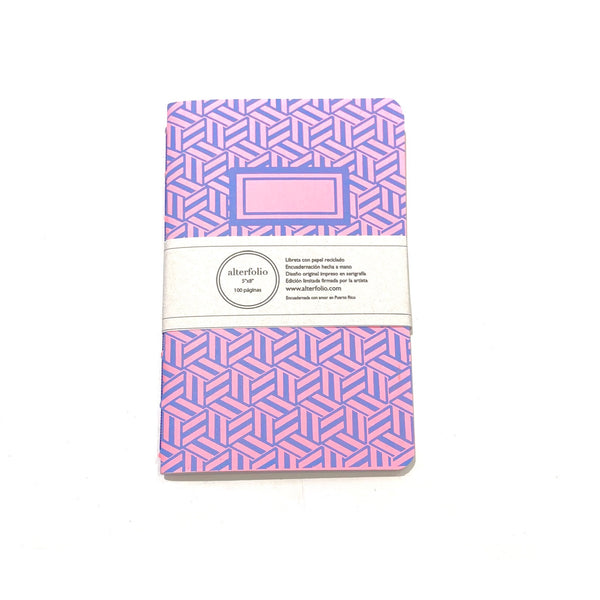 "ALTERFOLIO- Light Pink and Blue 5""x7"" Notebook"