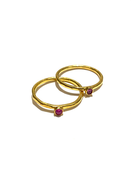 MONIQUE MICHELE- Ruby Delicate Rings